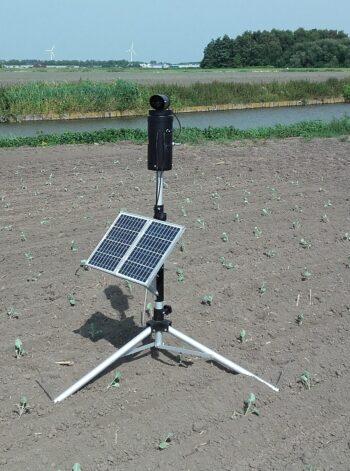 laser op zonnepaneel